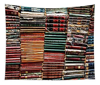 Tapestry featuring the photograph Stacks Of Books by Miles Whittingham