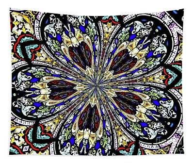 Stained Glass Kaleidoscope 38 Tapestry