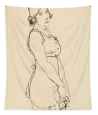 Standing Woman Tapestry