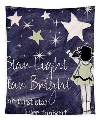 Star Light Star Bright Chalk Board Nursery Rhyme Tapestry