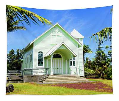 Tapestry featuring the photograph Star Of The Sea Painted Church by Jim Thompson