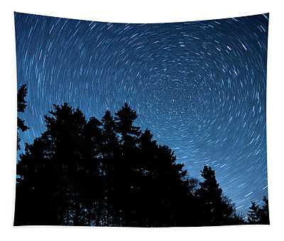Star Trails In Acadia Tapestry