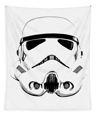 Star Wars Stormtrooper Helmet Graphic Drawing Tapestry