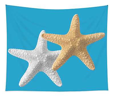 Starfish On Turquoise Tapestry