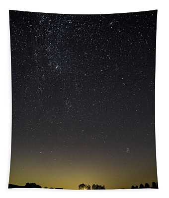 Starry Sky Over Virginia Farm Tapestry