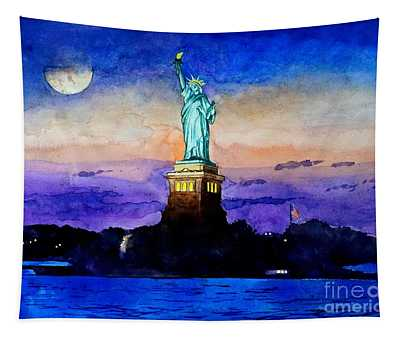 Statue Of Liberty New York Tapestry