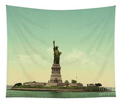 Statue Of Liberty, New York Harbor Tapestry