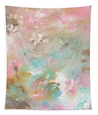 Stay- Abstract Art By Linda Woods Tapestry