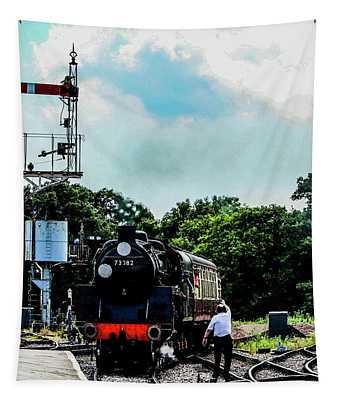 Steam Train Approaching Tapestry