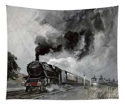 Steam Train At Garsdale - Cumbria Tapestry