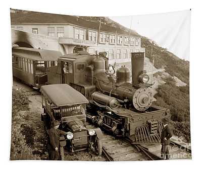 Stean Engine No. 8 Mount Tamalpais Circa 1920 Tapestry