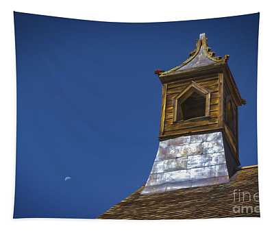 Steeple And Moon Tapestry