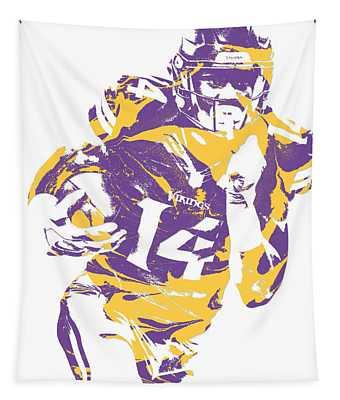 Stefon Diggs Minnesota Vikings Pixel Art 2 Tapestry