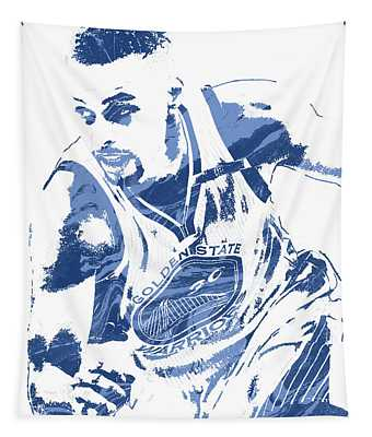 Stephen Curry Golden State Warriors Pixel Art 8 Tapestry