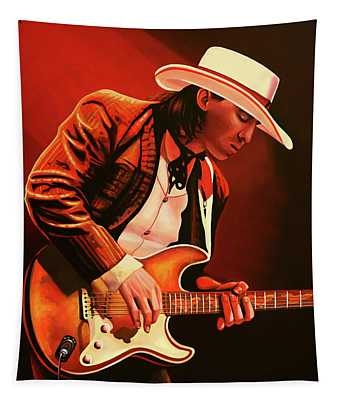 Stevie Ray Vaughan Painting Tapestry
