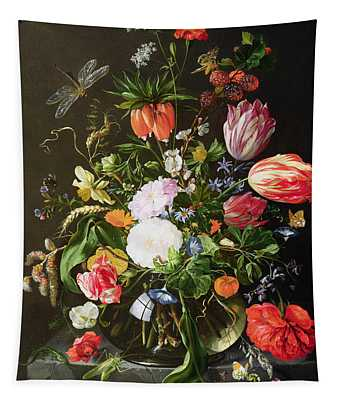 Still Life Of Flowers Tapestry