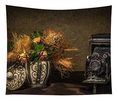 Still Life With Flowers And Camera Tapestry