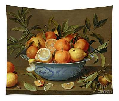 Still Life With Oranges And Lemons In A Wan-li Porcelain Dish  Tapestry
