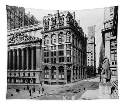 Tapestry featuring the photograph Stock Exchange, C1908 by Granger