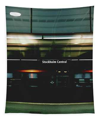 Stockholm Central- Photograph By Linda Woods Tapestry