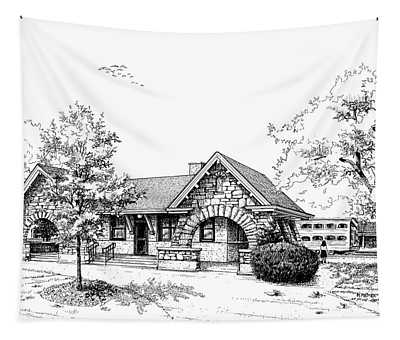 Stone Ave. Train Station Tapestry