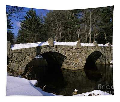 Stone Double Arched Bridge - Hillsborough New Hampshire Usa Tapestry