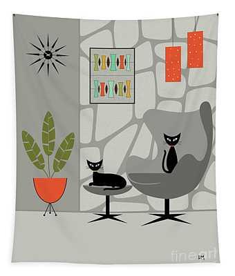 Stone Wall Gray Tones Tapestry