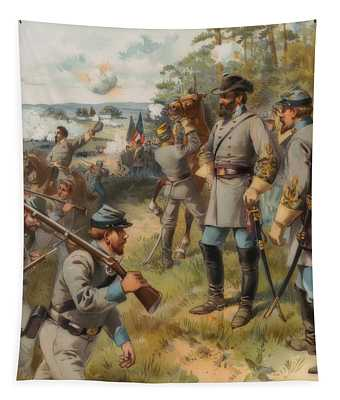 Stonewall Jackson At Bull Run, August 17, 1861 Tapestry