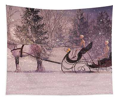 Stopping By Woods Tapestry