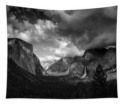 Storm Arrives In The Yosemite Valley Tapestry
