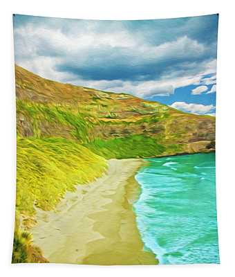Storm Coming New Zealand Coast Tapestry