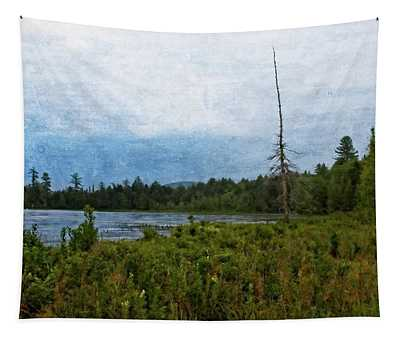 Storm On Raquette Lake Tapestry