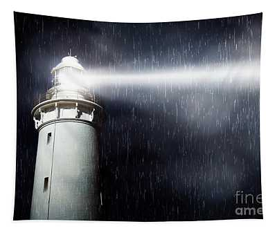 Storm Searchlight Tapestry