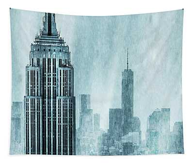 Tall Buildings Wall Tapestries