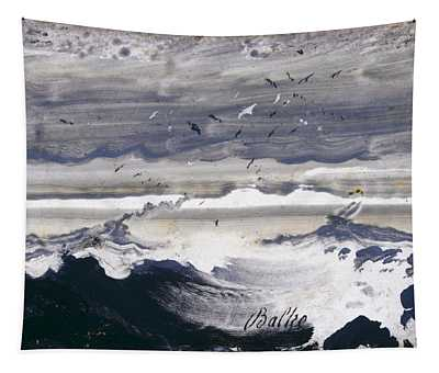 Stormy Sea Tapestry