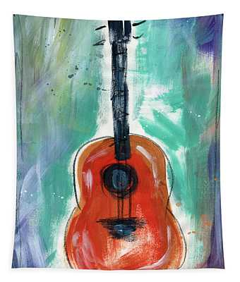 Storyteller's Guitar Tapestry