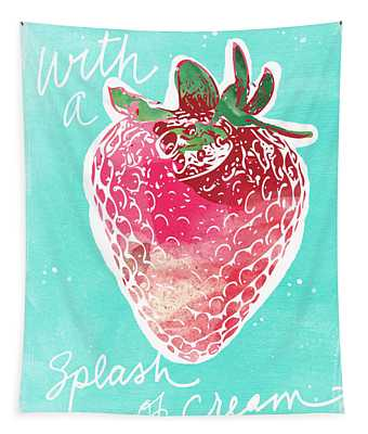 Strawberries And Cream Tapestry