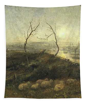 Strayed, A Moonlight Pastoral, 1878 Tapestry