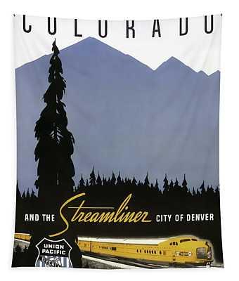 Streamliner City Of Denver 1936 Tapestry