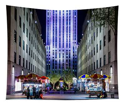 Tapestry featuring the photograph Rockefeller Center by M G Whittingham