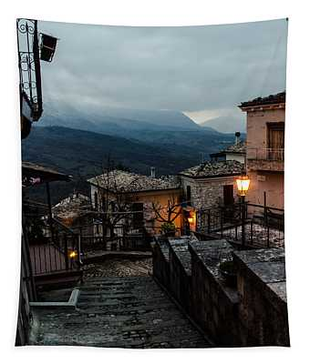 Streets Of Italy - Caramanico 3 Tapestry