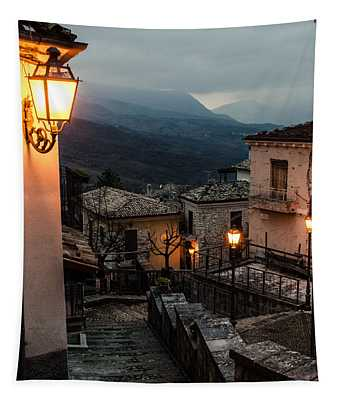 Streets Of Italy - Caramanico Tapestry