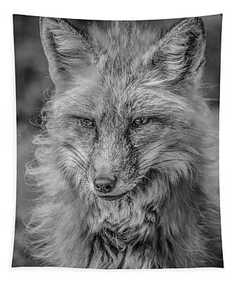 Striking A Pose Black And White Tapestry