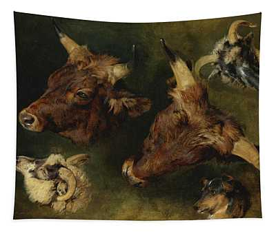 Studies Of Cattle And Sheep Tapestry