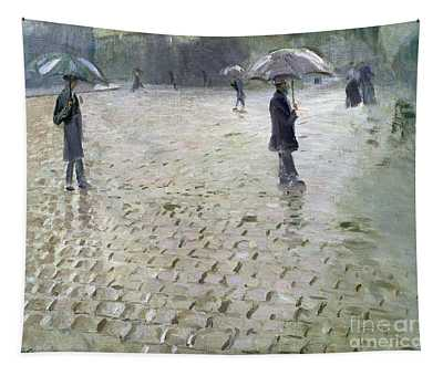 Study For A Paris Street Rainy Day Tapestry