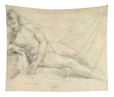 Study Of A Female Nude  Tapestry