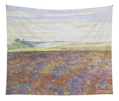 Study Of A Landscape With A Ploughed Field Tapestry