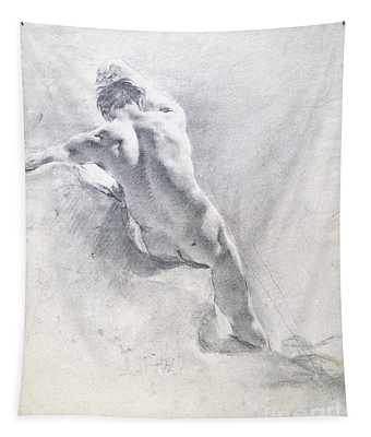 Study Of A Male Nude Tapestry