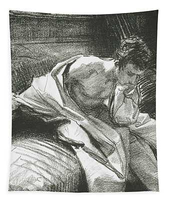 Study Of A Young Man Seated, 1895 Tapestry
