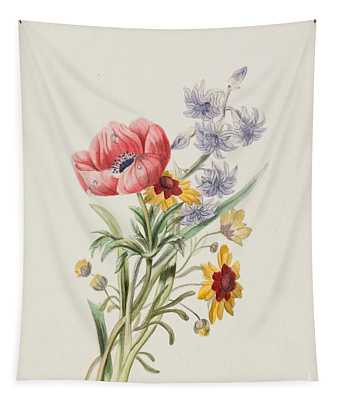 Study Of Wild Flowers Tapestry